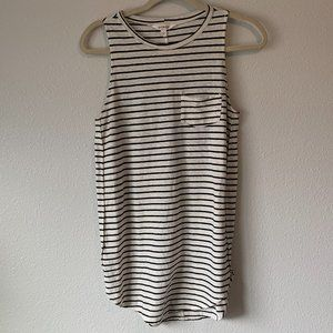 Athleta Striped Tank Top Women's Size Small *STAIN